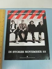 U2 2004 Interscope Records How To Dismantle promotional cling sticker New Stock