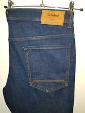 Stylish BNWT blue denim slim jeans by Timberland A1MTV stretch W40 L34 rrp £105