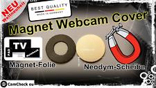 Neues Webcam Cover Neodym Hacken Notebook Tablet(Pad) Macbook TV Made in Germany