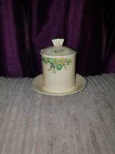 Vintage Art Deco crown ducal preserve jam honey pot floral decoration beautiful