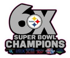 PITTSBURGH STEELERS CHAMPIONS PIN SUPERBOWL 6X CHAMPS PIN 2017-18 SUPER BOWL 52