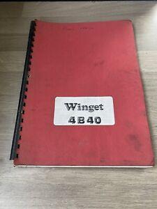 WINGET 4B40 2 TON  4X4 DUMPER  OPERATING & SPARE PART MANUAL 1980 CENTRE SEAT