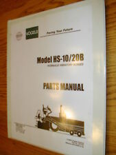 Vogele HS-10/20B PARTS MANUAL CATALOG BOOK HYD. VIBRATORY SCREED ASPHALT PAVER