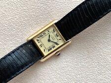 Vintage Must de Cartier Tank 925 Argent Ladies Watch READY TO WEAR