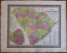South Carolina Charleston city plan inset 1846-9 Mitchell Burroughs scarce map