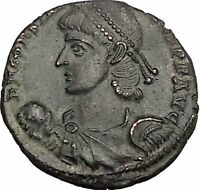 CONSTANTIUS II son of Constantine the Great w labarum Ancient Roman Coin i51168