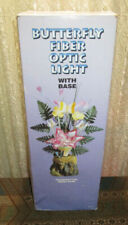 Vintage Spencer Gifts Butterfly Fiber Optic Light with Base New Old Stock Rare