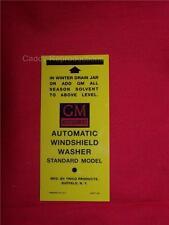 1950 - 55 Cadillac Windshield Washer Bottle Bracket Decal