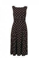 Jessica Howard Womens Sheath Dress Black Size 16W Plus Dot-Print $109- 184