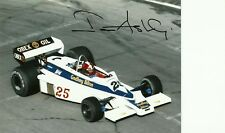 Ian Ashley F1 1977 Hesketh 308E signed photo Williams Brabham driver