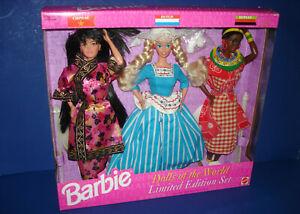 Dolls of the WOrld Limited Edition Set Chinese Dutch Kenyan Barbie 1994 Malaysia