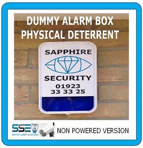 Decoy Alarm Siren- Visonic MCS 730 Blue Lense -Real Alarm Installation Company