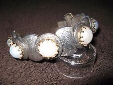 Konstantino 18k Yellow Gold 750 & Sterling Silver 925 Mabe Pearl Bracelet Large