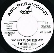 DIXIE CUPS what goes up must come down U.S. ABC 45rpm_1965 white promo MINT