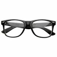 585b85ca06 NEW BLACK FRAME RETRO Geek Nerd Non Prescription Clear Lens Eye Glasses  Fashion