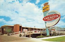Salt Lake City~Sweeping Arrow Sign~Little America Motel~Room Dial Phones~1960s