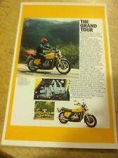 Vintage 1976 Honda Goldwing Gl Motorcycle Advertisement Man Cave Home Decor Gift