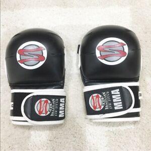 soca brazilian jiu jitsu men's black gloves Sz M Medium