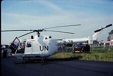Original colour slide Bo.105CB-4 (UN colours) B-78 of 299 Sqdn. Dutch Air Force