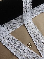 Clearance soft stretch lace 20mm wide 1Buy & 1 get for Fee job lot white