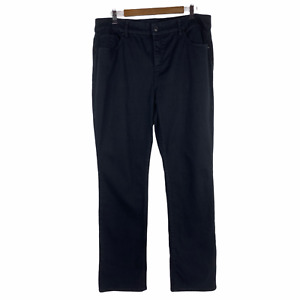 Chico's Black So Slimming Girlfriend Straight Leg Jeans 2 or US 12 High Rise