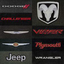 Velourtex 4pc Carpet Floor Mats for Chrysler Vehicles - Choose Color & Logo