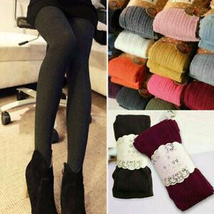 Women Winter Stretch Cable Tights Stocking Cotton Leg Warmer Soft Stretch Socks
