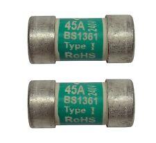 2 x 45A Consumer Unit Fuses | 45 Amp BS1361
