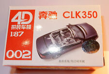 002 MICRO HO 1/87 MODEL 4D KIT MAQUETTE RESEAU TRAIN MERCEDES CLK 350 POWER GRIS