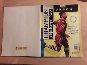 Panini Superstars 97 Champion Sticker Alben fast komplett