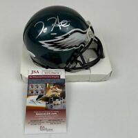 Autographed/Signed JALEN HURTS Philadelphia Eagles Mini Football Helmet JSA COA