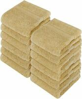 """Washcloth Towel Set Pack of 12 Premium Cotton 700 GSM 12x12"""" by Utopia Towels"""