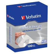Boite de 100 pochettes VERBATIM pour CD / DVD papier 49976