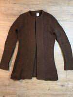J. Crew Women's Long Sleeve Open Front Cotton Cardigan Sweater XS Brown