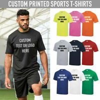 Personalised Sports T-Shirt Gym Charity Running Fitness PT Marathon Tee Top