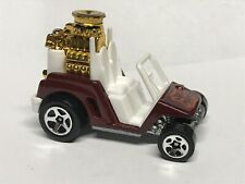 2007 Hot Wheels All Stars FORE WHEELER Golf Cart Golf Tee #158/223 Preowned