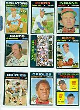 1971 Topps Baseball MLB  uPick (1) 399 to 329 , EX to NM Rev. 9/22/20 $2 or $6