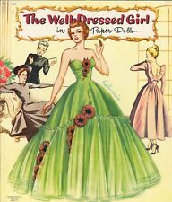 VINTG UNCUT 1940S WELL DRESS GIRL PAPER DOLL LASR REPRODUCTIN~LO PR~NO1 FREE SH