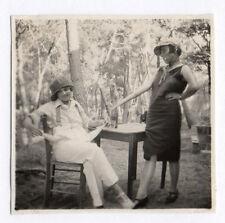 PHOTO ANCIENNE Déguisement Travesti Couple Drôle Curiosité Garçonne 1950 Béret