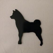Shiba Inu Refrigerator magnet black silhouette Made in the USA