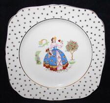 "Hollinshead & Kirkham/H&K Tunstall - 8 3/4"" Square Plate, Pattern 3939 - c1935"