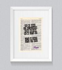 PRINCE Let's Go Crazy paroles vintage Dictionnaire Livre print art