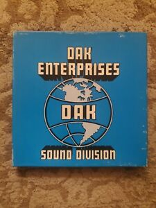 "LOT OF 2 Dak Enterprises 7"" Reel To Reel Recording Tape NEW 1972"
