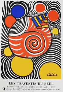 ALEXANDER CALDER - Les Travestis du Réel -  stunning 1979 artprint