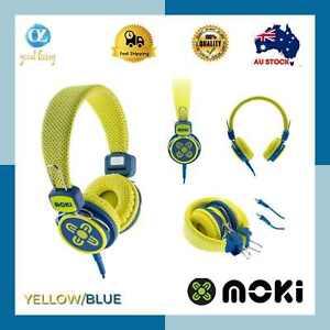 Moki Kid Safe*VoLtd*Headphones*Assorted Colours*Wired Boys Girls Earphones