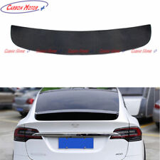 Carbon Fiber Rear Trunk Spoiler Boot Lip Wing for Tesla Model X Sedan 2016 2017+