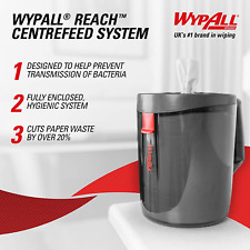 WypAll 6221 Reach Dispenser, Black (1 Dispenser)
