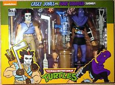 Neca TMNT Turtles 1988 Cartoon Casey Jones Vs Slashed Foot Soldier MISB
