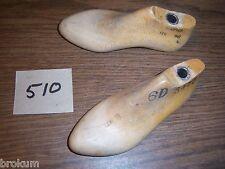 Pair Vintage Wood Child's Size 6 D Shoe Factory Industrial Mold Last (510)