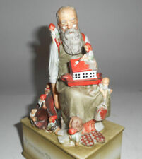 "Norman Rockwell Music Box Schmid ""We wish you a Merry Christmas"" Santa Claus Euc"